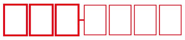 郵便番号 枠(定型郵便物用)四角_JIS規格